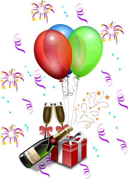 New Year S Eve Celebration Clip Art At Clker Com Vector