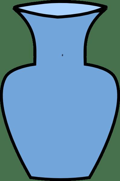 Blue Flower Vase Clip Art At Clker Com Vector Clip Art