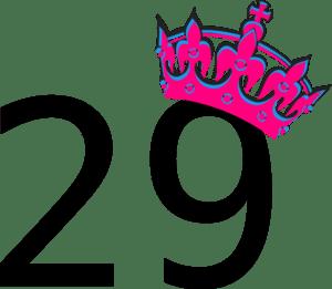 Pink Tilted Tiara And Number 29 Clip Art at Clker.com ...