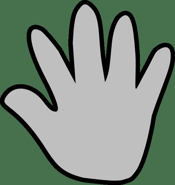 Clip Art Hand Pointing U