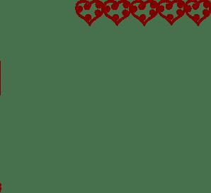 Row Of Hearts Clip Art At Clker Com Vector Clip Art