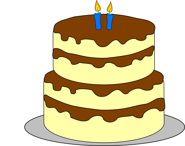 4 Layer Birthday Cake Clip Art At Clker Com Vector Clip