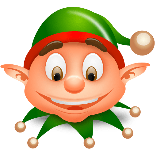And Elf Art Red Green Hat Clip