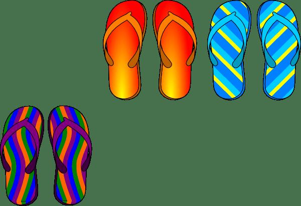 Hawaiian Flops Flip Print