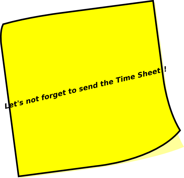 Timesheets Are Due Clip Art