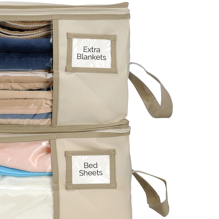 Clutter Keeper Deluxe Storage Bags Set Of 2 Clutter