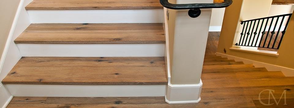 Custom Stair Treads Classic Millworks   Custom Wood Stair Treads   Solid Wood   Reclaimed Wood   Red Oak Stair   Slate Tile   Los Angeles