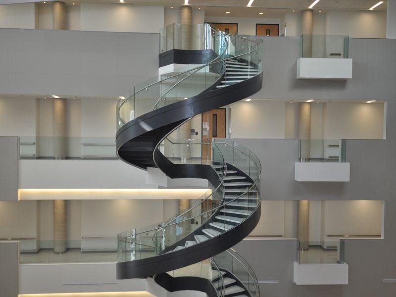 Curved Stair Stringer Custom Stair Stringer Spiral Staircase | 9 Foot Spiral Staircase | Stair Railing | Mylen Stairs | Stairway | Stair Parts | Staircase Railings