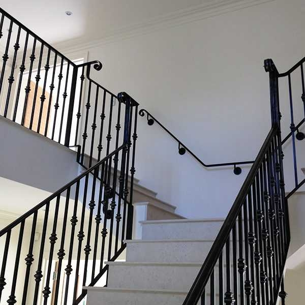 Custom Factory Supply Black Indoor Decor Stairs Iron Railings   Black Iron Railing Indoor   Iron Balusters   Railing Ideas   Staircase   Paint   Handrail Stairs