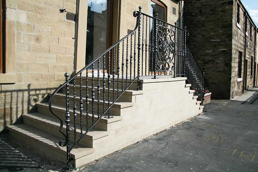 Exterior Elegant Contemporary Outdoor Safety Iron | Outdoor Steps For Sale