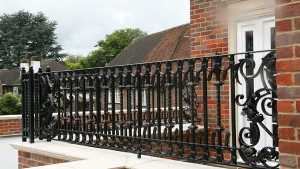 Home Custom Made Fence Wrought Iron Railing Design For