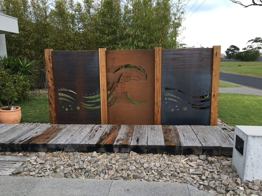 Safety Beach Rustic Feature Fencing Using Corten Steel