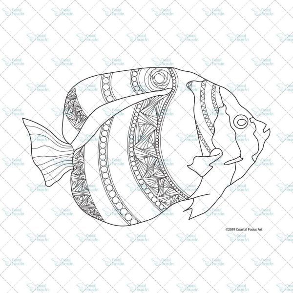 tropical fish coloring pages # 36
