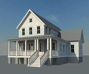 Bay Point Cottage   Coastal Home Plans Bay Point Cottage