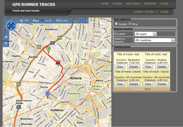 GPS Runner Maps  My First Windows Azure Application   CodeProject Application Description