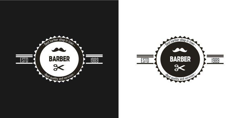 barber logo template - 800×400