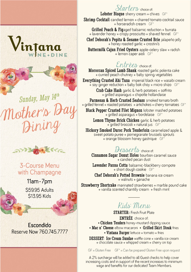 Family Restaurants Mothers Day