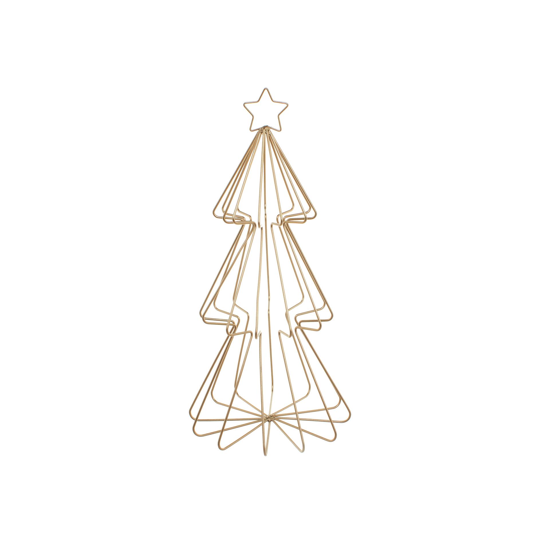 Metal wire christmas tree coincasa