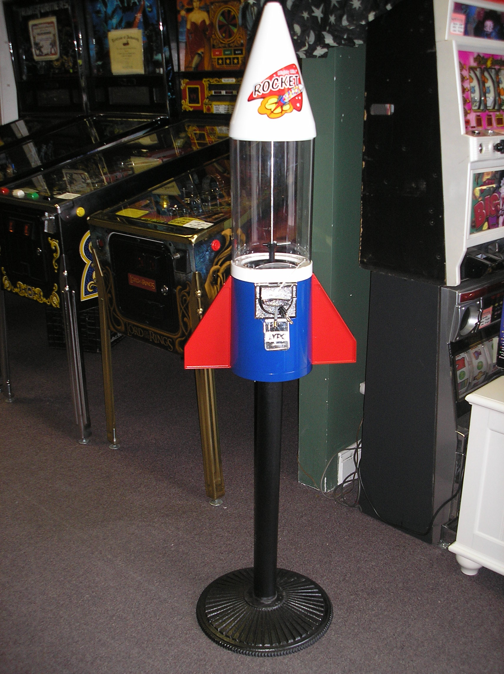 Mighty Mite Rocket Gumball Machine For Sale Vend