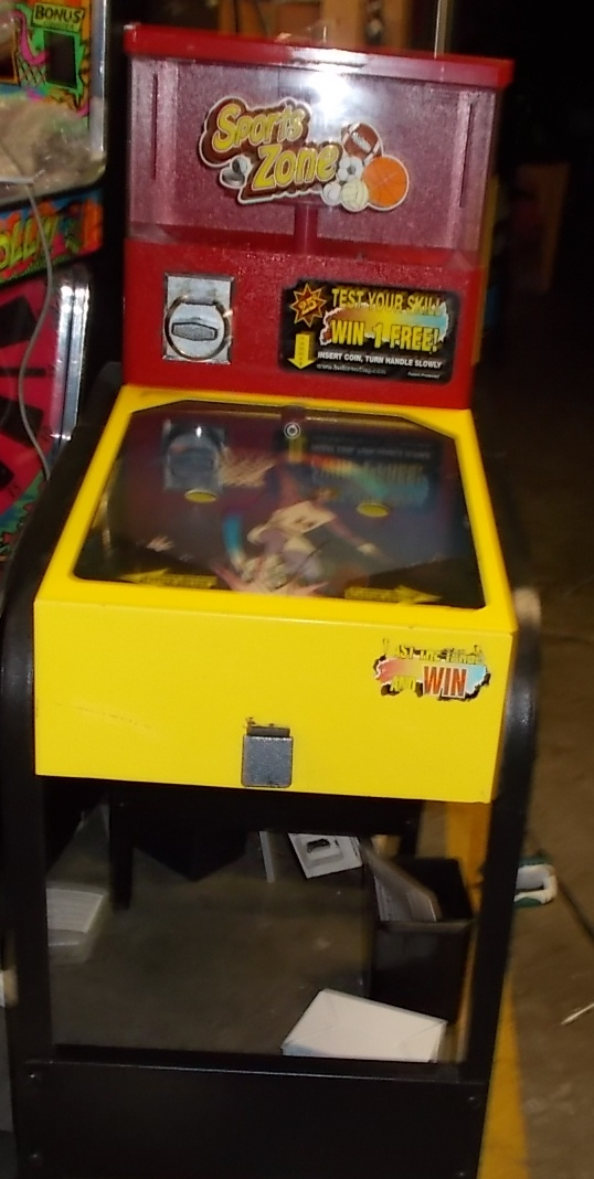 Sports Zone Gumball Super Ball Machine For Sale Vend