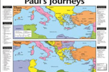 Paul S Journey To Rome Map Voyage Apostle Third Missionary Bible Training Centre