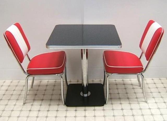 Bel Air Retro Furniture Diner Table Amp Chair Mini Set