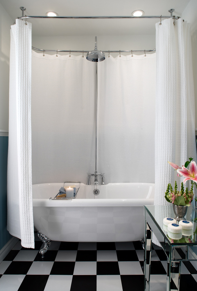 Shower Curtain Roll Top Bath