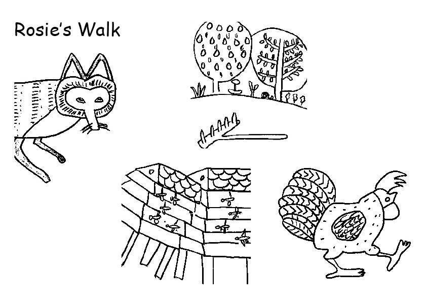 Rosies Walk Printable Book