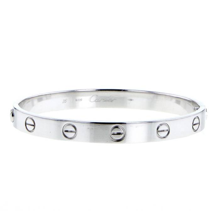 Cartier Love Bracelet 351131   Collector Square Cartier Love bracelet in white gold  size 16