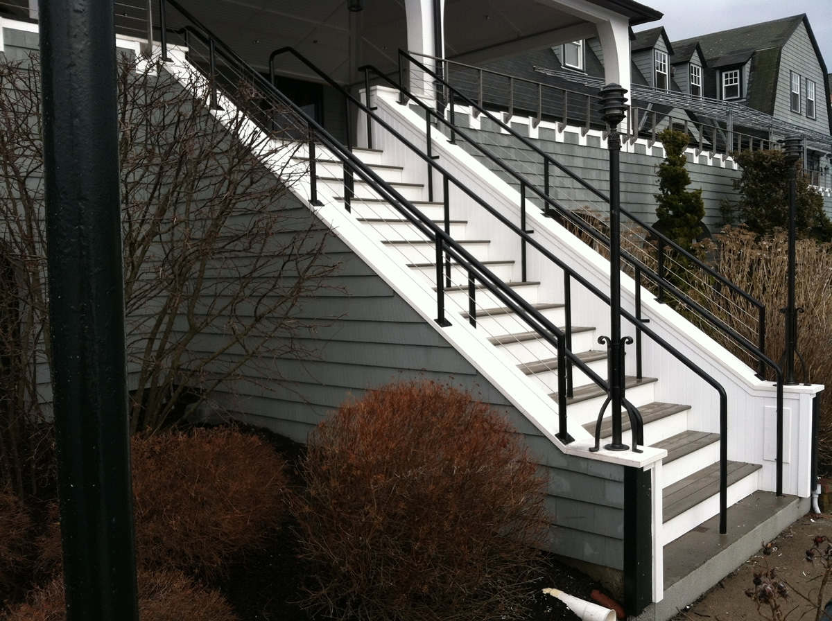 Colonial Iron Works Iron Works Railings | Galvanized Pipe Stair Railing | Garden | Industrial | Metal | Used Deck Railing | Interior
