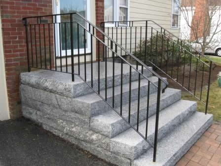 Colonial Iron Works Iron Exterior Handrails   Rod Iron Railings For Exterior Stairs   Front Porch   Porch Railing Kits   Railing Ideas   Railing Designs   Custom