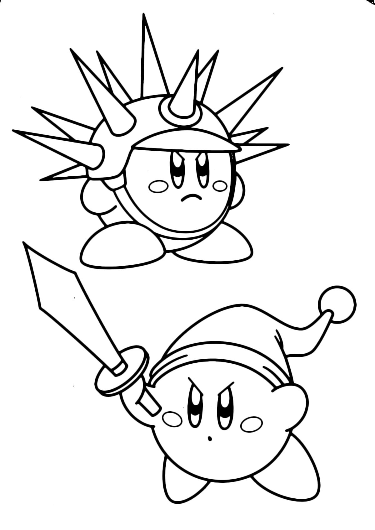 Kirby E Dibujos Imprimir Colorear Para