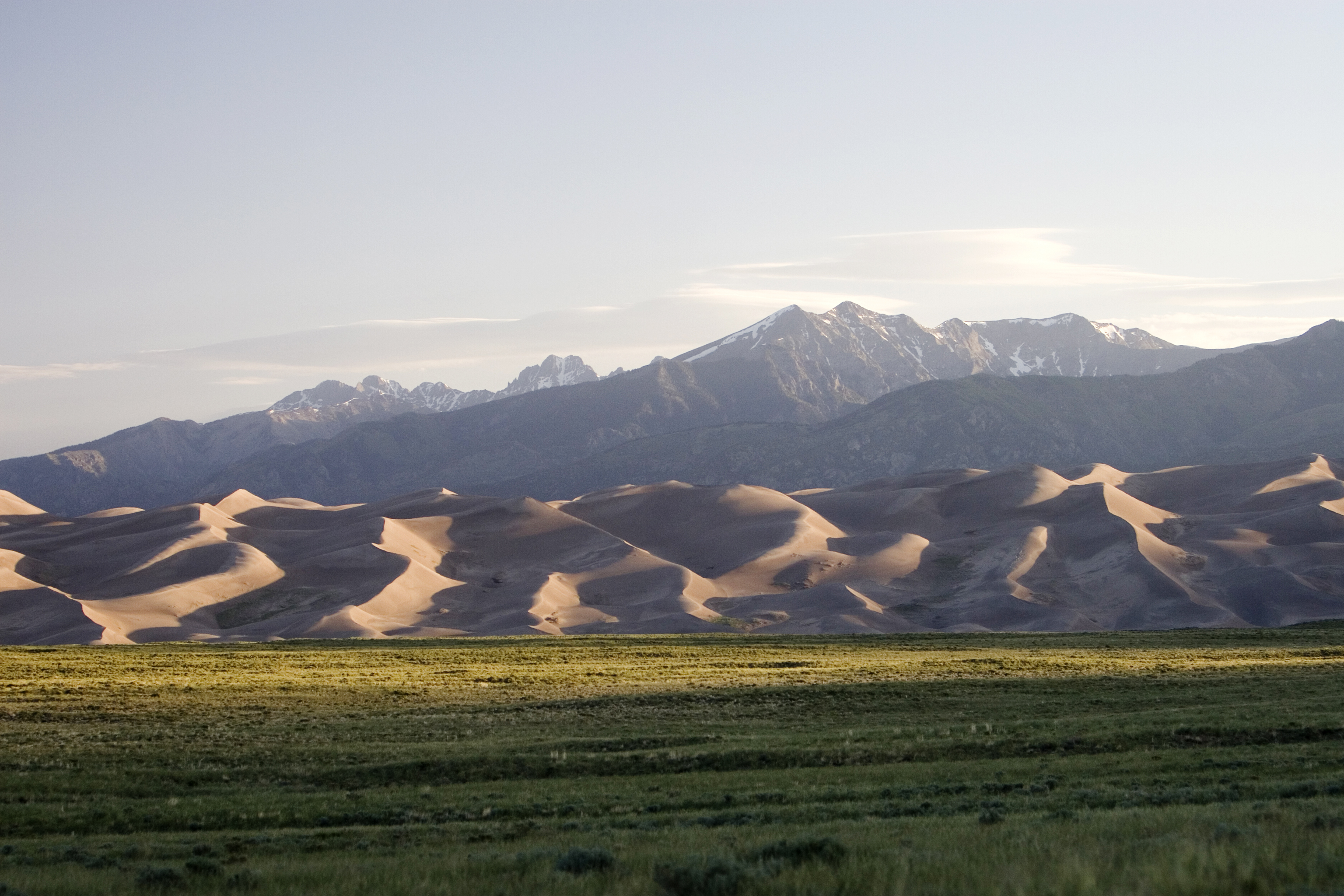 The Great Sand Dunes With The Sangre De Cristo Mountains