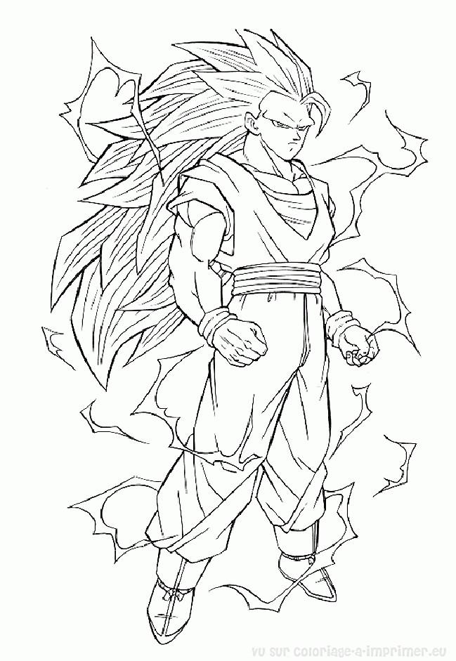 Dbz Bardock Super Saiyan Coloring