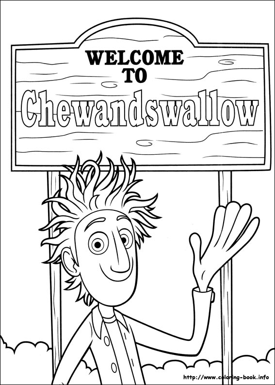 cloudy with a chance of meatballs coloring pages # 3