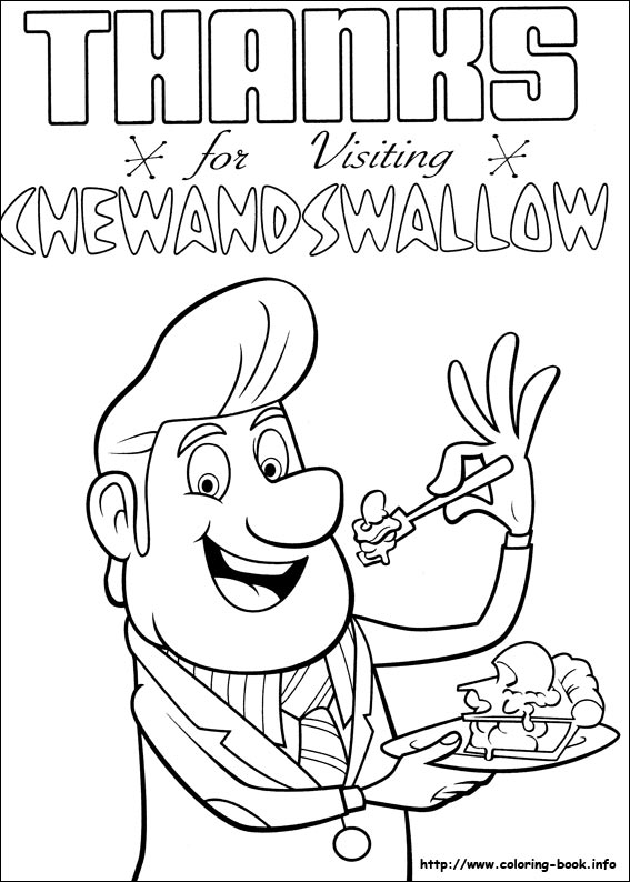 cloudy with a chance of meatballs coloring pages # 25