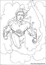 fantastic four coloring pages # 3
