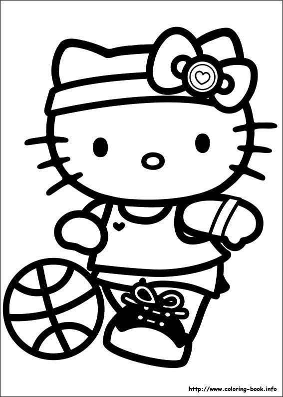 hello kitty free coloring pages # 5