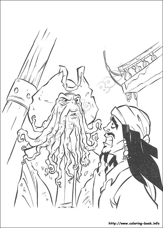 pirates of the caribbean coloring pages # 14