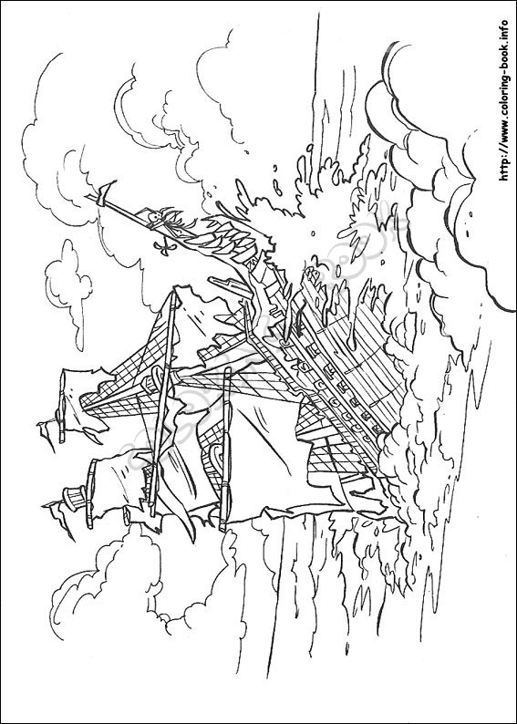 pirates of the caribbean coloring pages # 20