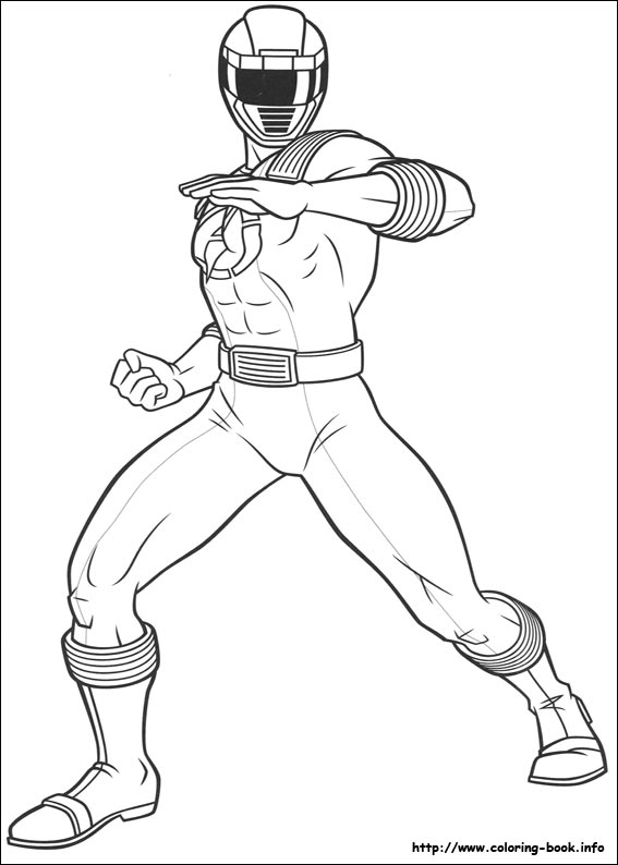 power rangers coloring page # 18