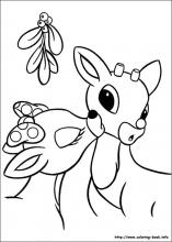 rudolph the red nosed reindeer coloring page # 23