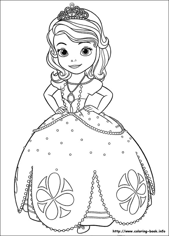 sofia the first printable coloring pages # 2