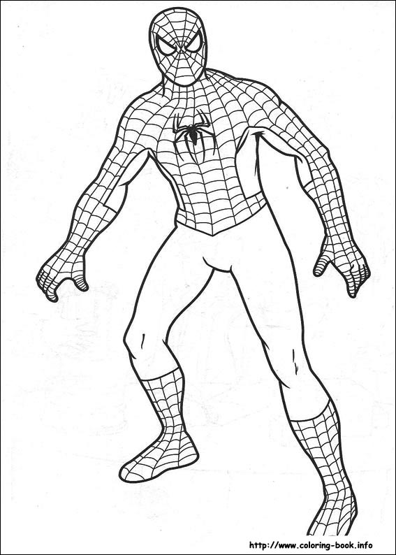 coloring pages of spiderman # 16