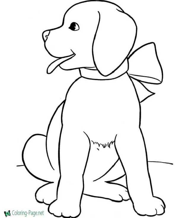 printable dog coloring pages # 4
