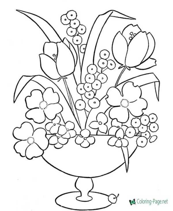 coloring pages flower # 7
