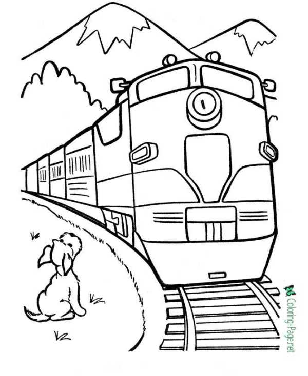 train coloring pages # 12