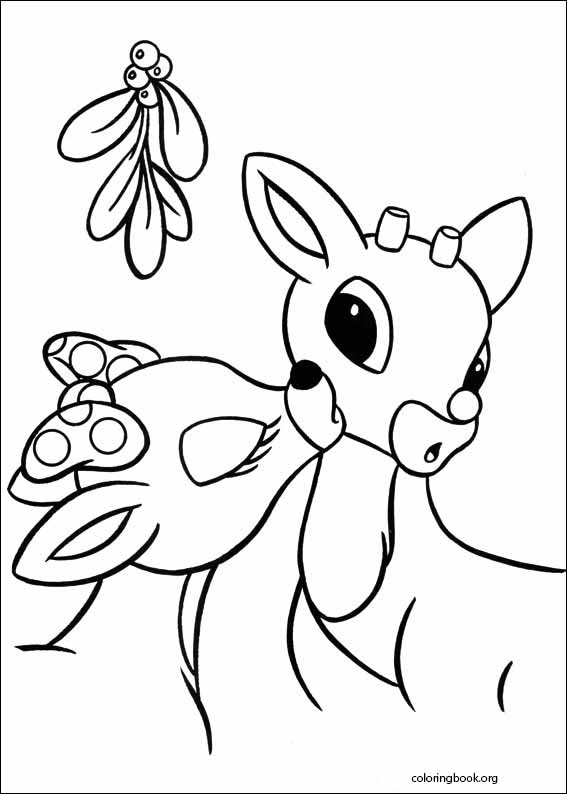 rudolph the red nosed reindeer coloring page # 9