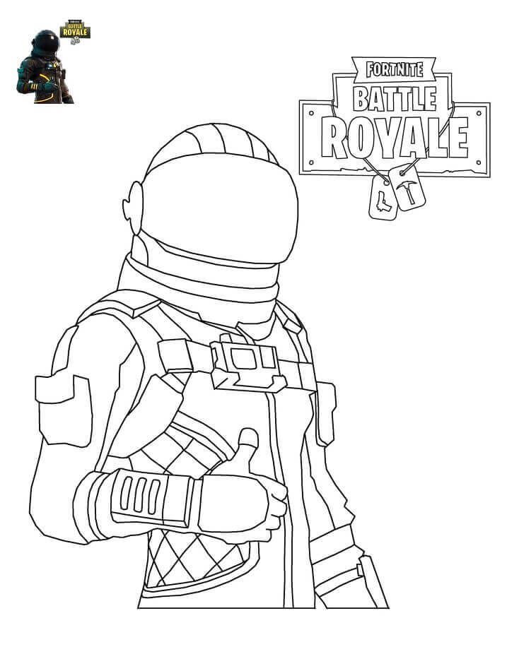 Dark Fortnite Pages Coloring