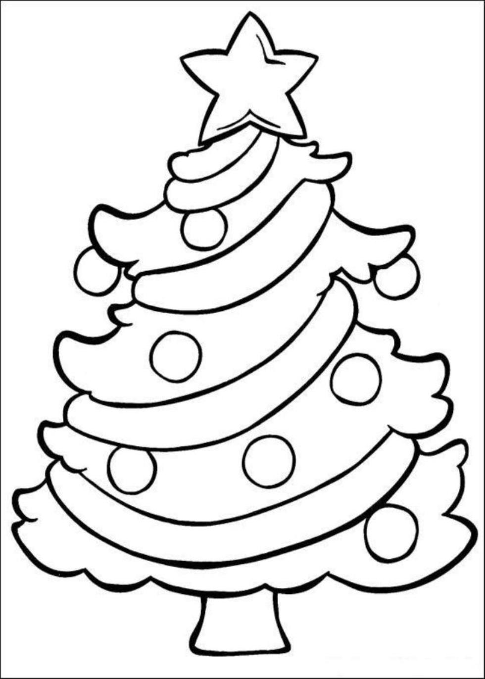 Free Coloring Sheet Christmas Tree Coloring Page